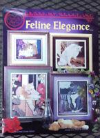 Cross My Heart Cross Stitch Leaflet CSB-147 Feline Elegance Xstitch 4 patterns