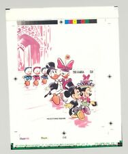Gambia #1533 Disney, Easter 1v S/S Imperf Chromalin Proof w/ Overlay