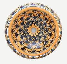 Mexican Talavera Round Vessel Sink Donut Ceramic Handpainted # 21