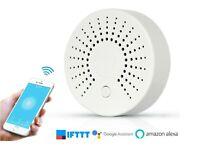 WLAN Rauchmelder Wifi Rauch-/Hitzemelder mit Tuya App und Weltweitem Push-Alarm