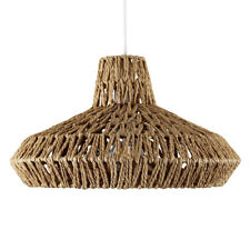 Wicker lampshades and lightshades ebay modern natural woven rope non electric ceiling pendant light shade home lighting aloadofball Image collections