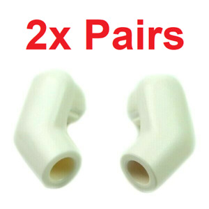 LEGO PARTS - (4) White Minifigure Arms (2 Pairs) for Star Wars Clone, etc.