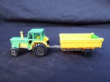 Vintage Farm Tractor and Trailer + Boat & Trailer (toy)