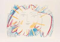 ART PRINT - Visage de la paix (serigraph) by PABLO PICASSO Dove Sun 27x39
