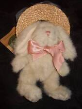 """Boyds Collection Giselle De La Fleur 7"""" ivory bunny straw hat Easter holiday"""