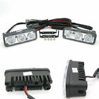 Universal 1 Pair Car White 12V 3 LED DRL Daytime Running Light Fog Light Lamp