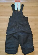 Snow Bibs Pants Ski Winter Wear Unisex Black Cat and Jack Child Size 12 M NWT