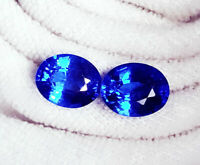 Loose Gemstone Natural Blue Sapphire 8.00 to 10.00 Ct 2 Certified Pairs O158