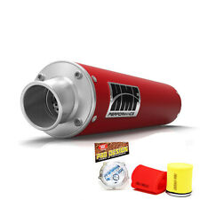 HMF Performance Slip On Exhaust Muffler Red Pro Design Foam Filter Raptor 700