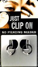 2 xTest Fake Illusion Piercing Ring clip on 8 mm schwarz Lippen Ohr Intim  90006