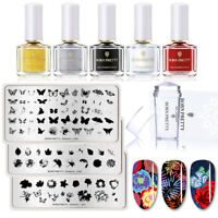 9pcs/set BORN PRETTY Overprint Nagel Stempel Platten Stamping Polish Stamper Kit