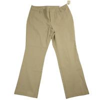 NWT St John's Bay Beige Stretchy Straight Leg Pants Women's Size 20W