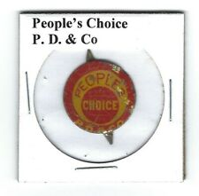 People's Choice Chewing Tobacco Tag P.D. & Co. P402 Litho