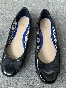 Womens TU @. Sainsburys Black Patent Shoes Size 5