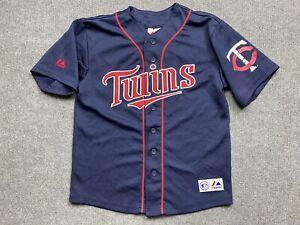 Minnesota Twins Baseball Jersey Boys 10 - 12 Years MLB Player # 7 Mauer Youth