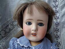 Poupée ancienne bébé caractère tête porcelaine Limoges France baby character hea
