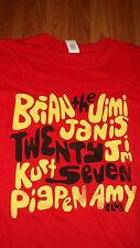 Rock n Roll THE 27 CLUB Jim Morrison Jimi Hendrix Kurt Cobain T-Shirt L