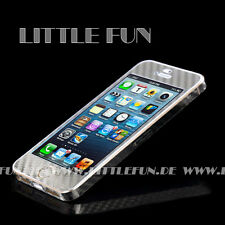 iPhone 5S Hülle Case Aufkleber Carbon Klebefolie Sticker für iPhone 5S Silber
