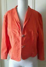 Fabiani Blazer Style Jacket Decorative Buttons Orange Womens size 42 Style# 873