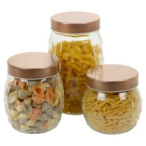 Hermetic Air Tight Preserve Jars Durable Glass Food Kitchen Storage Containers
