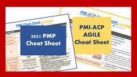 **New** 2021 PMP  &  AGILE PMI-ACP Exam Prep / Cheat Sheet Brain Dumps (2 units)
