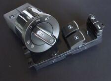 Für VW Golf 4 Passat 3B 3BG Alu Look Fensterheber Schalter Lichtschalter 2 Türer