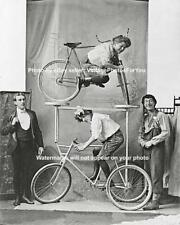 Antique Old Vintage Weird Odd Strange Funny Bicycle Bike Trick Invention Photo