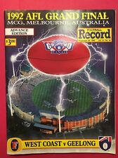 GREAT 1992 AFL GRAND FINAL RECORD WEST COAST EAGLES VS GEELONG EAGLES PREMIERS