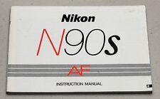NIKON N90S AF Camera Guide Manual Instruction Photography Book