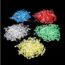 500Pcs 5MM LED Diode Kit Mixed Color Red Green Yellow Blue White