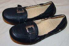 Naturino Navy Blue Ballet Flats 36 5 Girls Youth Sheepskin Soles Shoes Buckle