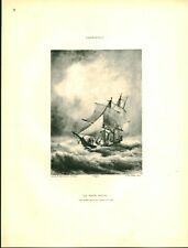 Gravure ancienne phototypie le pays natal Cassinelli issue du livre