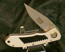 Lockback Knife Sharp Anodized Aluminum Frame 440-SS Blade W/Original Packaging