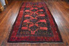 Vintage Persian Koliai Rug, 5'x9', Blue/Red, All wool pile