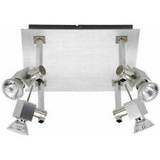 Brilliant G15835/21 Atiko lampada da soffitto a 4 faretti da 50W color alluminio