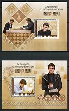 Ivory Coast 2017 MNH Magnus Carlsen Chess World Champion 2016 2x 1v S/S Stamps