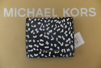 Michael Kors Small Money Pieces Flap Card Holder Purse Black Leather BNWT RP £85