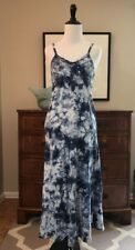 Justice Girl's Blue White Tie Dye Sequin Maxi Dress - Size 12
