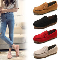Women's Fashion Slip On Round Toe Flat Casual Loafer Sneaker Shallow Doug Shoes
