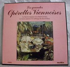 4  x 33T Coffret GRANDES OPERETTES VIENNOISES Disques LP BARON TZIGANE Strauss M