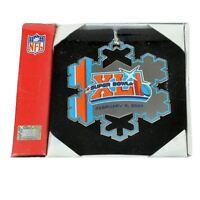 NFL Football Super Bowl XLI 41 Feb 2007 Christmas Holiday Ornament Snowflake