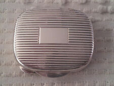 Pill Jewelry Box No Monogram Vintage Tiffany Sterling Silver Rectangle Ribbed