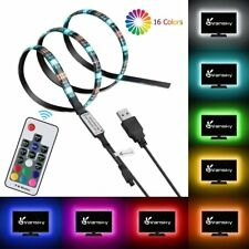3M 5V RGB LED STRIP LIGHT COLOUR CHANGE USB KIT BACKGROUND LIGHTING TV PC LAPTOP