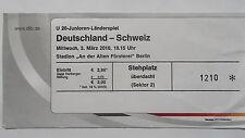 TICKET U20 LS 3.10.2010 Deutschland - Schweiz in Berlin Alte Försterei