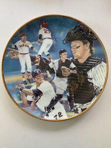 "1992 Gartlan Boston Red Sox HOF Catcher Carlton Fisk LTD ED#426 Signed 10"" Plate"