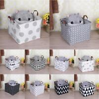 Portable Canvas Clothes Storage Bag Foldable Kids Toys Holder Container Basket