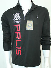 Polo Ralph Lauren Black Watch Color Black Performance Mesh Shirt Medium NWT