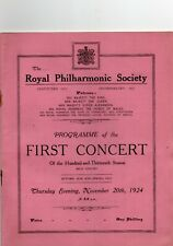 1924 Queen's Hall Concert Program 40 Pages Wilhelm Furtwangler Katherine Goodson
