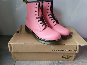 DR. MARTENS 1460Y Romario (Smoother Finish) Boots-Acid Pink 25811653 Size UK5