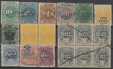 F-EX14851 PERU REVENUE STAMPS LOT.